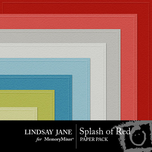 Splash of red embossed pp medium