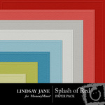 Splash of Red Embossed Paper Pack-$2.99 (Lindsay Jane)