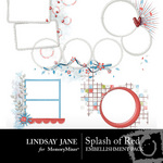 Splash of Red Frame Pack-$2.99 (Lindsay Jane)