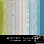 Splash of Red Paper Pack-$3.99 (Lindsay Jane)
