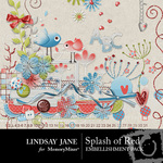 Splash of Red Embellishment Pack-$3.99 (Lindsay Jane)