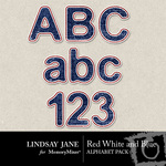 Red White and Blue Alphabet Pack-$0.75 (Lindsay Jane)