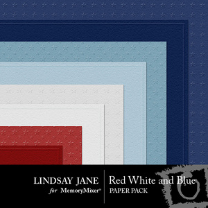 Red white and blue embossed pp pre 1 medium
