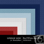 Red White and Blue Embossed Paper Pack-$1.50 (Lindsay Jane)