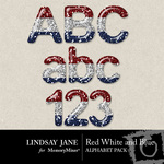 Red White and Blue Glitter Alphabet Pack-$2.49 (Lindsay Jane)