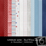 Red White and Blue Paper Pack-$2.00 (Lindsay Jane)