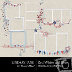 Red White and Blue Frame Pack-$2.99 (Lindsay Jane)