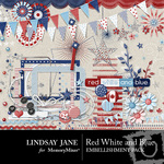 Red White and Blue Embellishment Pack-$1.75 (Lindsay Jane)
