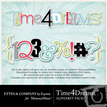 Time 4 Dreams Alphabet Pack-$3.99 (Fayette Designs)