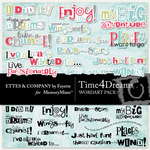 Time 4 Dreams WordArt Pack-$1.99 (Ettes and Company by Fayette)