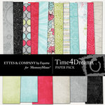 Time 4 Dreams Paper Pack-$3.99 (Ettes and Company by Fayette)