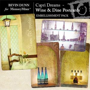 Capri dreams wine and dine postcards emb medium