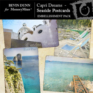 Capri dreams seaside postcards emb medium
