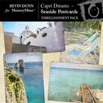 Capri Dreams Seaside Postcards Embellishment Pack-$1.99 (Bevin Dunn)