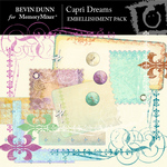 Capri Dreams Embellishment Pack-$1.99 (Bevin Dunn)