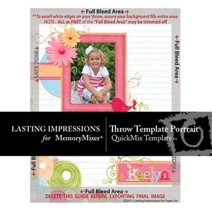 Throw template portrait preview medium