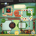 Mexicana embellishment pack small