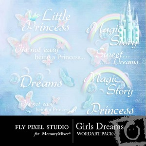 Girls dreams wordart medium