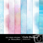 Girls Dreams Paper Pack-$3.99 (Fly Pixel Studio)