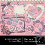 Precious Embellishment Pack-$2.99 (Designs by Krista)