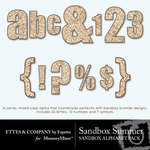 Sandbox Summer Alphabet Pack-$0.99 (Ettes and Company by Fayette)