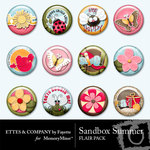 Sandbox Summer Flair Pack-$1.49 (Ettes and Company by Fayette)