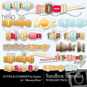 Sandbox summer wordart medium