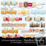 Sandbox Summer WordArt Pack-$1.99 (Ettes and Company by Fayette)