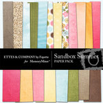 Sandbox Summer Paper Pack-$3.99 (Ettes and Company by Fayette)