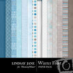 Winter Frost Paper Pack-$3.99 (Lindsay Jane)