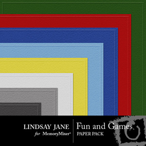 Fun and games embossed pp medium