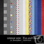 Fun and Games Paper Pack-$3.99 (Lindsay Jane)