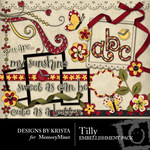 Tilly Embellishment Pack-$2.99 (Designs by Krista)