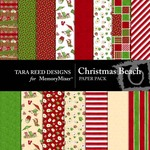 Christmas Beach Paper Pack-$2.00 (Tara Reed Designs)