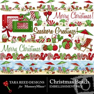 Christmas beach emb medium