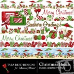 Christmas Beach Embellishment Pack-$2.99 (Tara Reed Designs)