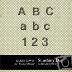 Sunshiny Day Alphabet Pack-$0.45 (Karen Lewis)