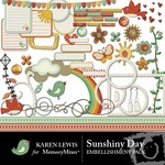 Sunshiny Day Embellishment Pack-$1.25 (Karen Lewis)