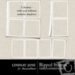 Ripped Stamps Cluster Pack-$2.99 (Lindsay Jane)