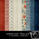 Stars and Stripes Paper Pack-$3.99 (Lindsay Jane)