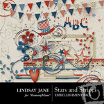 Stars and Stripes Embellishment Pack-$3.99 (Lindsay Jane)