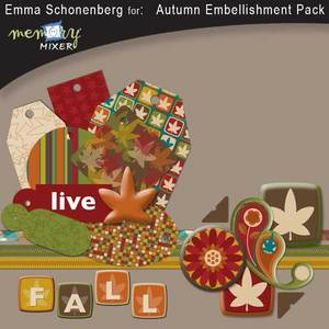 Autumn embellishment pack medium