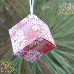 Christmas damask box and ornament samp 2 small