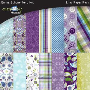 Lilac paper pack medium