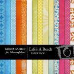 Lifes A Beach Paper Pack-$3.80 (Krista Sahlin)