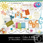 Lifes A Beach Embellishment Pack-$1.75 (Krista Sahlin)