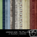 No Place Like Home Paper Pack-$2.00 (Lindsay Jane)