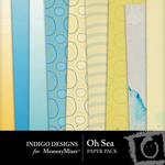 Oh Sea Paper Pack-$2.00 (Indigo Designs)