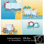 Oh Sea Quick Page QuickMix-$3.49 (Indigo Designs)