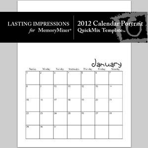 2012 calendar portrait quickmix medium